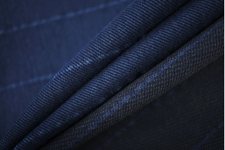 Джинса костюмная в полоску темно-синяя FRM-W7 03072023
