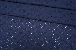 Шитье хлопковое темно-синее цветы CVT.H-E2 04082031