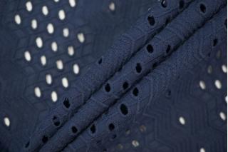 Шитье хлопковое темно-синее орнамент CVT-A5 04082032
