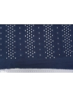 Шитье хлопковое темно-синее орнамент CVT.H-E20 04082032
