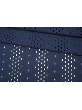 Шитье хлопковое темно-синее орнамент CVT.H-E2 04082032