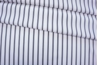 ОТРЕЗ 1,05 М Хлопок рубашечный в полоску черно-белый FRM-(22)- 05072004-1