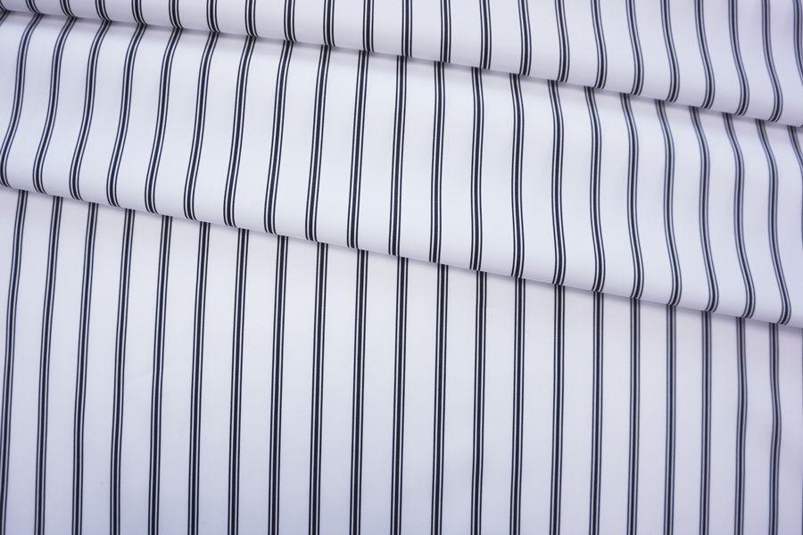 Хлопок рубашечный в полоску черно-белый FRM-E4 05072004