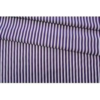 Хлопок рубашечный в полоску бело-фиолетовый FRM-G5 05072006