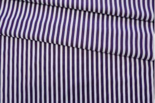 Хлопок рубашечный в полоску бело-фиолетовый FRM 05072006
