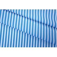 Хлопок рубашечный в полоску бело-голубой FRM 05072008