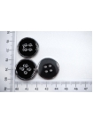 Пуговица костюмная металлическая черная 22 мм PRT-(K)- 06082002