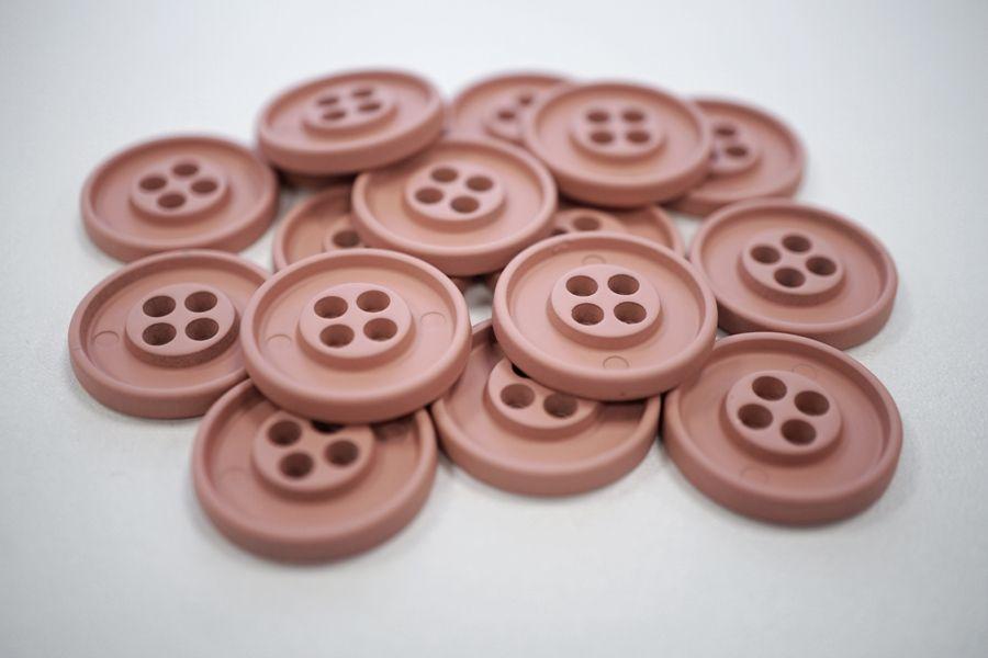 Пуговица костюмная металлическая розовая 22 мм PRT-(G)- 06082008