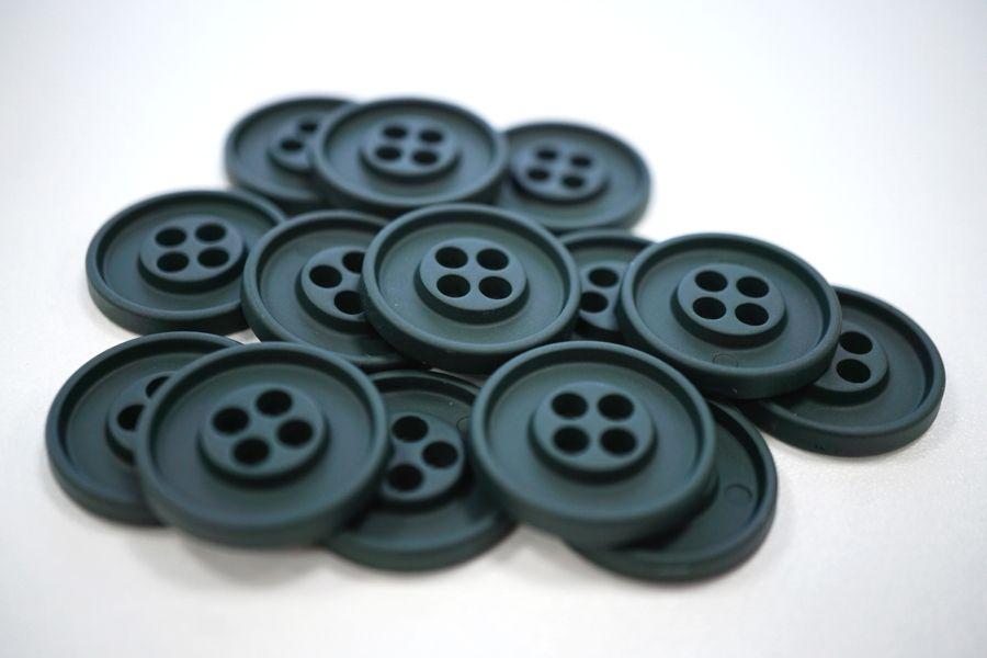 Пуговица костюмная металлическая темно-зеленая 22 мм PRT-(G)- 06082009