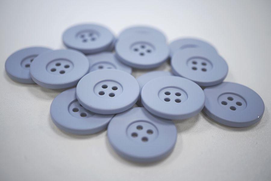 Пуговица костюмная металлическая голубая 22 мм PRT-(G)- 06082011
