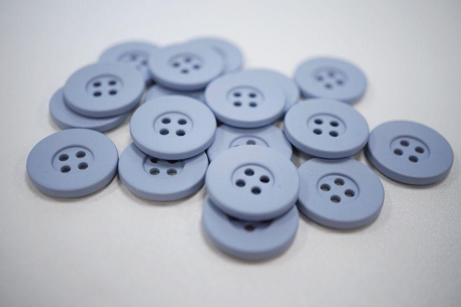 Пуговица костюмная металлическая голубая 17 мм PRT-(G)- 06082012