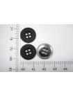 Пуговица плательная металлическая черная 15 мм PRT-(G)- 06082024