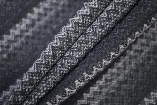 Твид костюмный шерстяной елочка черно-серый BRS-T4 07072004