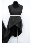 Костюмно-пальтовая шерсть в точку черно-белая BRS-C2 07072008