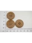 Пуговица костюмно-пальтовая пластик коричнево-бежевая 25 мм PRT-(C)- 08082032