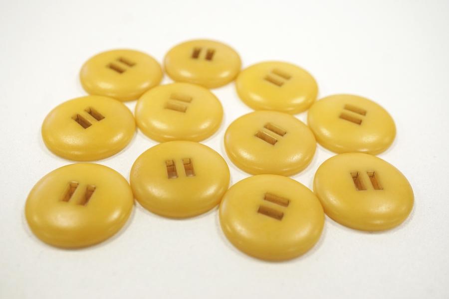 Пуговица костюмно-пальтовая пластик желтая 22 мм PRT-(E)- 08082061