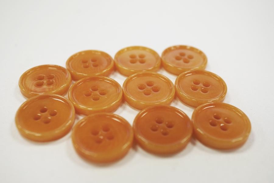 Пуговица костюмно-плательная пластик  приглушенно-апельсиновая 17 мм PRT-(E)- 08082062