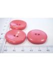 Пуговица пальтовая пластик ярко-розовая 28 мм PRT-(G)- 08082064