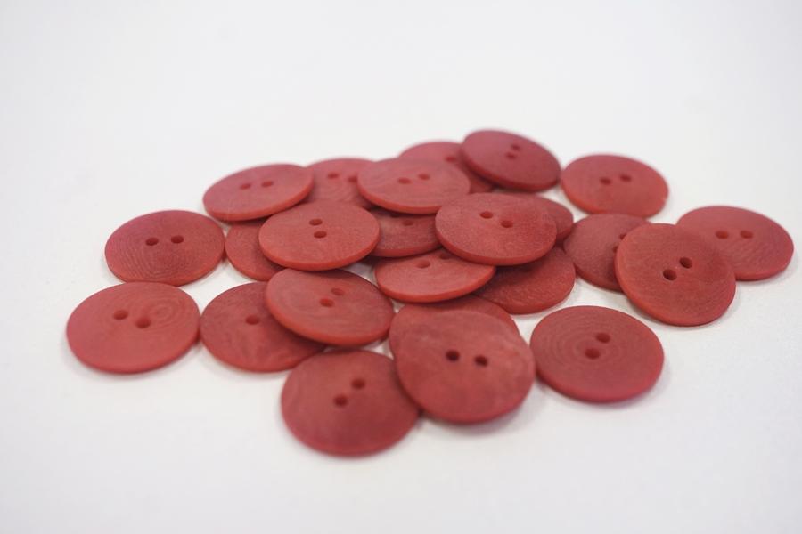 Пуговица костюмно-плательная пластик пыльно-красная 15 мм PRT-(F)- 08082076