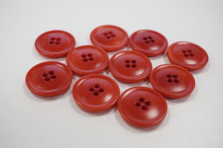 Пуговица костюмно-плательная пластик красная 17 мм PRT-(F)- 08082077