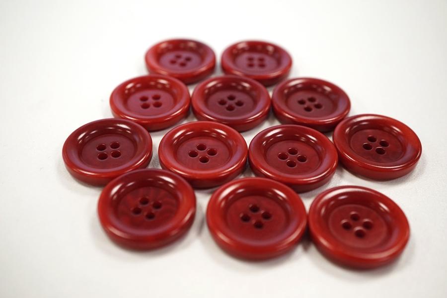 Пуговица костюмная пластик темно-красная 22 мм PRT-(F)- 08082078