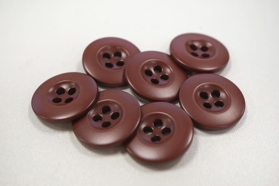 Пуговица костюмная пластик розово-коричневая 22 мм PRT-(F)- 08082083