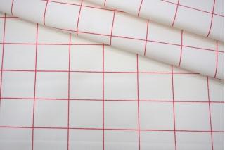Хлопок костюмно-плательный белый в крупную клетку PRT-F6 10062036