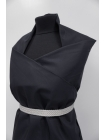 Хлопок рубашечно-плательный черно-синий PRT-F5 10062058