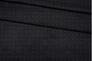 Плательный шелк узкий черный в горошек FRM-M4 10082003