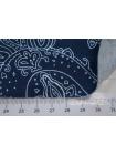 Трикотаж вискозный огурцы на синем BRS-N4 13072006