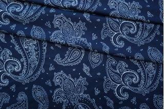 Трикотаж вискозный огурцы на синем BRS-D4 13072006