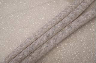 Тонкий трикотаж с люрексом бежевато-серебристый BRS-D5 13072008