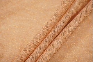 Тонкий трикотаж с люрексом светло-оранжевый BRS-N3 13072009