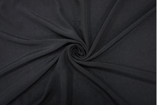 Крепдешин тонкий шелковый черный BRS 13072031