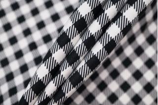 Хлопок рубашечно-плательный в черно-белую клетку BRS-F5 13072053