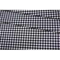 Хлопок рубашечно-плательный в черно-белую клетку BRS.H-G7 13072053