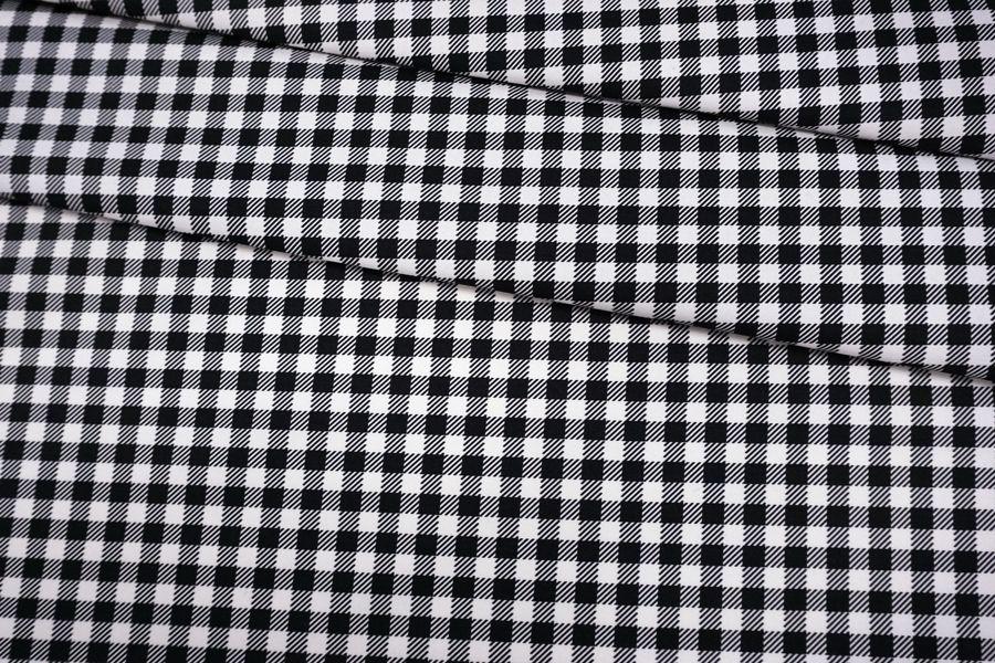 Хлопок рубашечно-плательный в черно-белую клетку BRS.H-j70 13072053