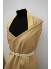 Хлопок костюмно-плательный двусторонний бежево-желтый BRS-G4 13072088