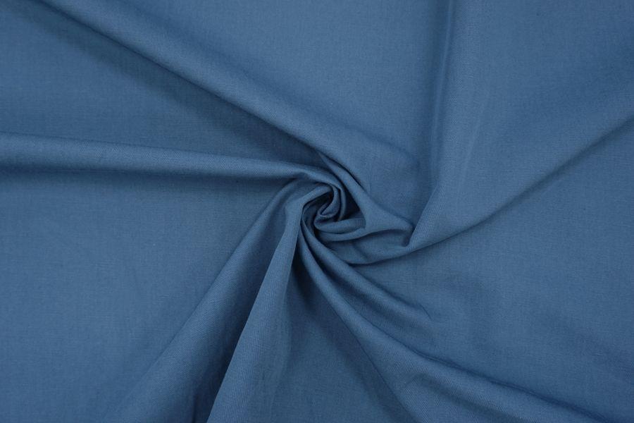 Лен с хлопком костюмно-плательный синий BRS-H7 14072011