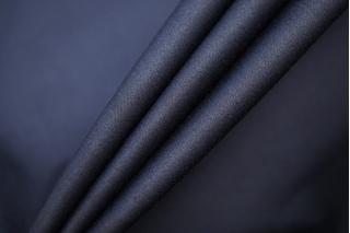 Сатин хлопковый плательный графитово-синий BRS-X7 14072018