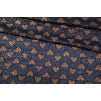 ОТРЕЗ 2,9 М Шелк с люрексом Gucci принт сердца SVR-(51)- 17082008-1