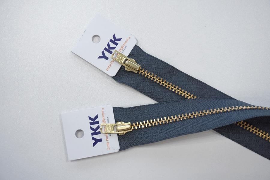 Молния джинсовая неразъемная цвет серый 182 16 см YKK SK 42351-182