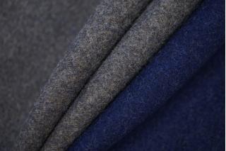 Пальтовый шерстяной велюр дабл сине-серый BRS-W2 20072011