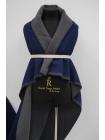 Пальтовый шерстяной велюр дабл сине-серый BRS-EE70 20072011