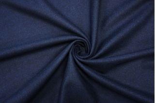 Костюмная шерстяная фланель сине-черная BRS-W6 20072018