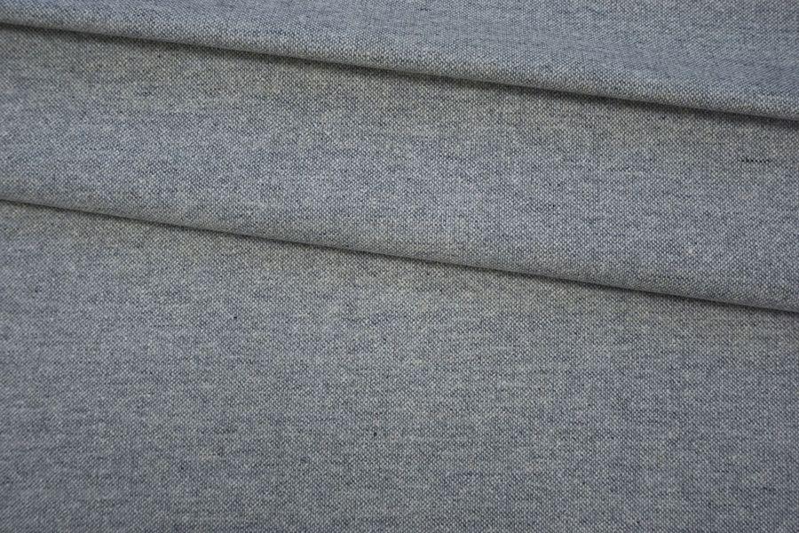 Твид костюмный серо-белый проклеенный BRS-G2 20072021