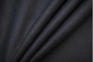 Костюмная шерстяная фланель черная BRS-W2 20072024