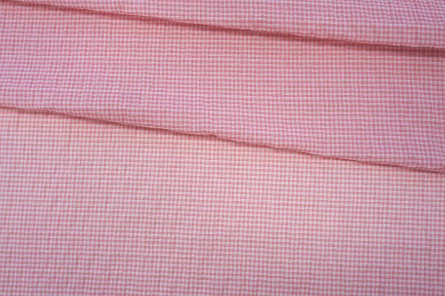 Марлевка-сирсакер бело-розовая NST-E4 22062024