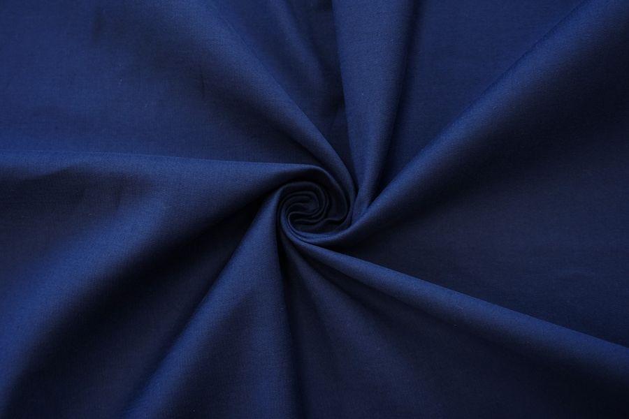 Хлопок-стрейч дабл темно-синий NST-C70 22062027