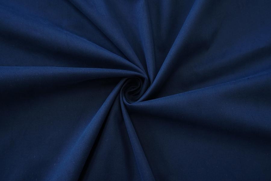 Хлопок костюмный диагональный темно-синий NST-C60 22062034